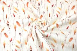 !NEU! Single Jersey – Trockenblumen Apricot