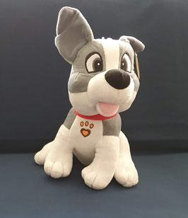 Pluchen hondje, grijs