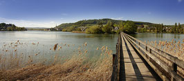 Stein am Rhein Steg zur Insel Werd