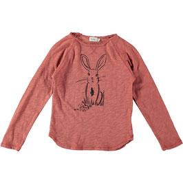 T shirt Lou Rabbit, rose down