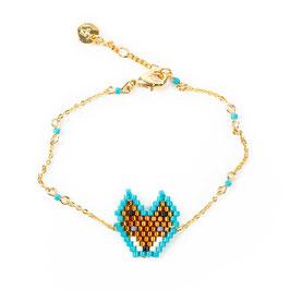 Bracelet Fuchs türkis