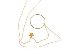 Kette mit Stern und Ring