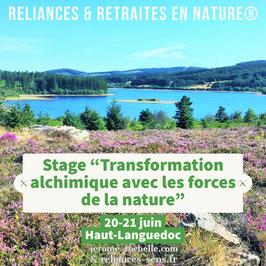 STAGE Solstice d'été en Haut-Languedoc (Hérault) du 20 au 21 Juin 2020 / Acompte de réservation