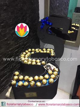 LETRA FLORAL GOLD GDE LF05