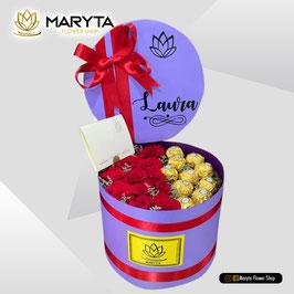 Cilindro rosas-chocolates 202