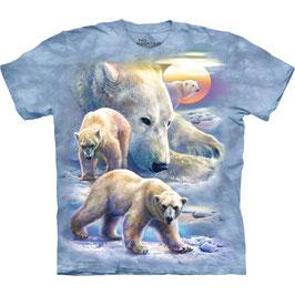 Sunrise Polar Bear Collage