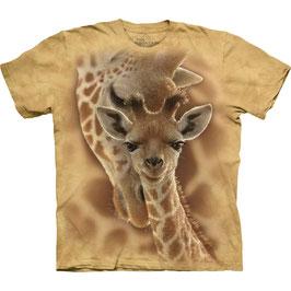 Giraffe mit Jungem