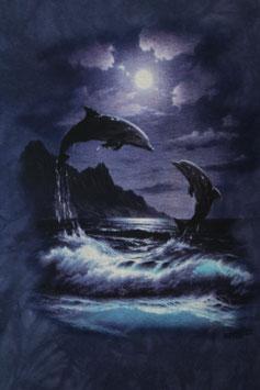 2 Delfine im Mondlicht Purple
