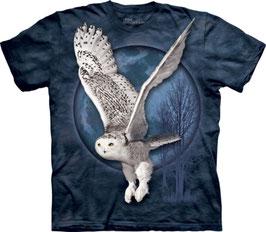 Snow Owl Flying