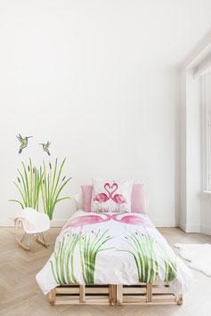 Beddengoed flamingo