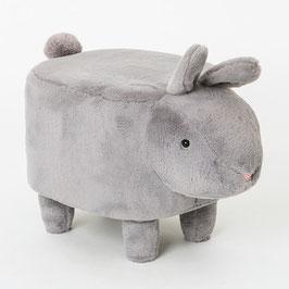 Pouf konijn grijs