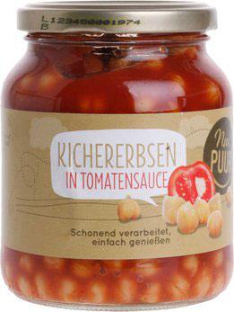 NUR PUUR -  Kichererbsen in Tomatensauce