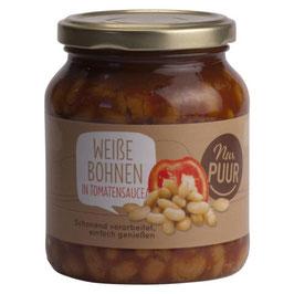 NUR PUUR - Weiße Bohnen in Tomatensauce 350 g