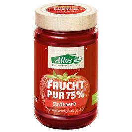 Allos - Fruchtaufstrich 75% Erdbeere 250 g