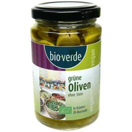 BIO VERDE - Oliven Grün ohne Stein 200 g