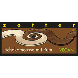 Schokomousse mit Rum VEGAN - ZOTTER