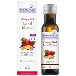 BIO PLANETE - Omega Red Leinöl Mixtur 100 ml