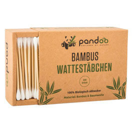 Bambus Wattestäbchen 200 Stk. - PANDOO