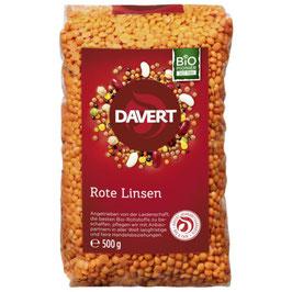 Rote Linsen 500 g - DAVERT