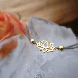 Armband Lotus vergoldet oder rosévergoldet
