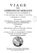 Viaje de Ambrosio de Morales