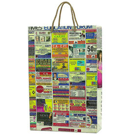 Shopping Bag Aus Recyclingmaterial, Indisches Strassenprojekt, 50 Stk.