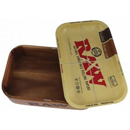 Raw Holzbox Mit Rolling Tray-Deckel