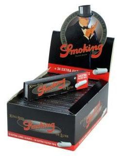 Smoking Paper Schwarz + Filter Tips KS