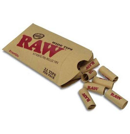20 x 21 Raw Wide Prerolled Tips