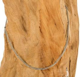 Brillen-& Maskenkette Silber, mehrlagig mit runden Silberbeads