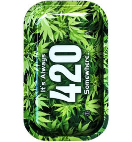"Metal Rolling Tray ""420"" 16 x 27 cm"