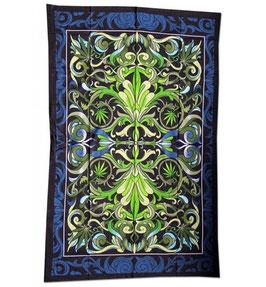Batik Tuch In Weed We Trust  140 x 220 cm