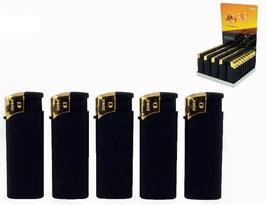 Feuerzeug Angel Rubber schwarz/gold (50 Stk)