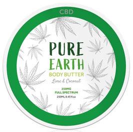 Pure Earth, CBD Body Butter 250ml - 250mg CBD