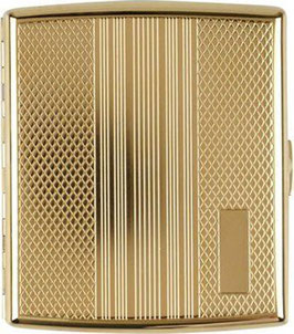 Zigarettenetui Gold Gemustert, Mit Bügel