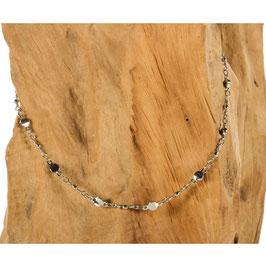 Brillen-& Maskenkette, Silber mit runden Silberbeads