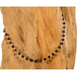 Brillen-& Maskenkette Bohemian, schwarze Perlen
