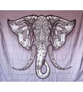 Wandtuch Elephant Mandala 150 x 130cm
