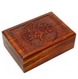 Holz Dose - Tree of Life Simpel