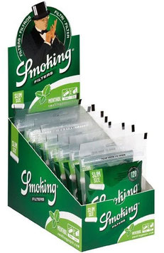 Smoking Slim Watte-Filter Menthol (30 x 120 Stk.)