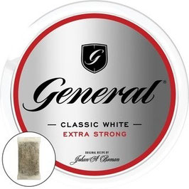 General Classic White Extra Strong Lutschtabak - Bags (5 x 18g)