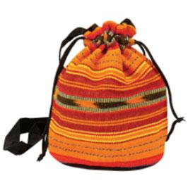 Guatemala Bag bunt gross mit Kordel, 23 x 23cm