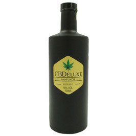 CBDeluxe Hanflikör Black Bottle 0,7 Liter 18 % Vol.
