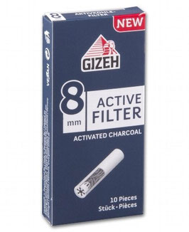 GIZEH Aktivkohle Filter 8mm (25 x 10Stk)