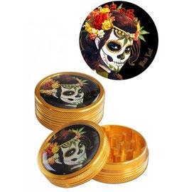 Black Leaf Mexican Skull Grinder Bronze, 2-teilig