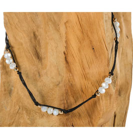Brillen-& Maskenband Wax-Makrameethread, mit Perlenbeads