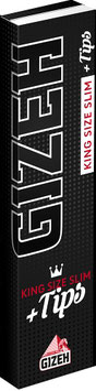 Gizeh Black King Size Slim + Tips (26 Stk)