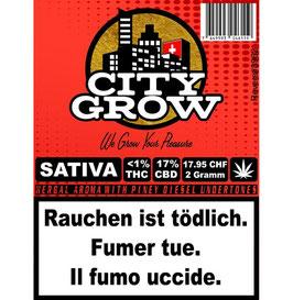 City-Grow Sativa CBD Blüten 2g