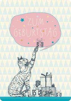 Postkarte – KATZE, Zum Geburtstag (KL 14109)
