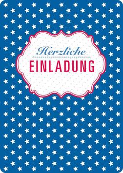 EINLADUNG, Sterne (KL 14100)